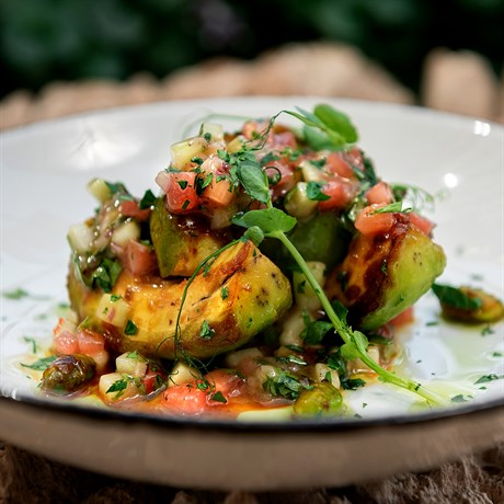 Авокадо на гриле с эдамаме - фото 4882
