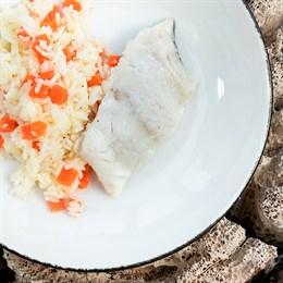 Треска на пару с рисом