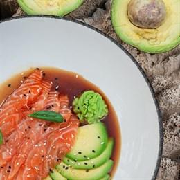 Сашими из лосося с васаби